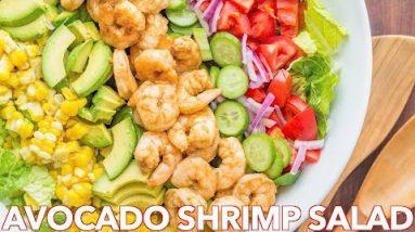 Tasty Avocado Shrimp Salad Recipe + Simple Cilantro Lemon Dressing