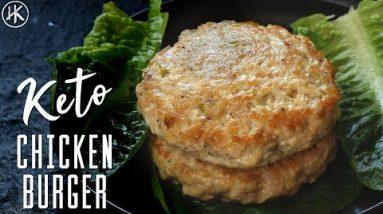 3 Ingredient Chicken Burger | Keto Chicken Burger