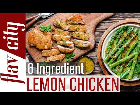 Keto Lemon Chicken With Asparagus –  Easy 6 Ingredient  Low Carb Recipe