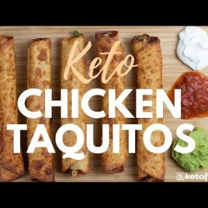 KETO TAQUITOS | BUDGET KETO FOOD | Easy Keto Recipe using Rotisserie Chicken | PART 2