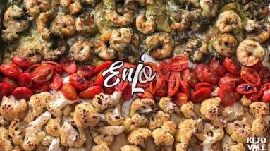 Keto Baked Pesto Shrimp with Cauliflower Low Carb Recipe