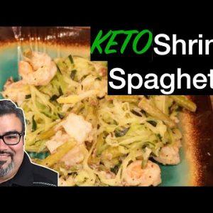 "STAY HOME, EAT GREAT! – Recipe 10 ""KETO Shrimp Spaghetti"""