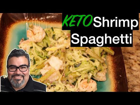 "STAY HOME, EAT GREAT! – Recipe 10 ""KETO Shrimp Spaghetti"""