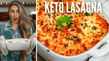 BEST KETO LASAGNA RECIPE! How to make Zucchini Noodle Keto Lasagna! Easy & Low Carb Recipe for Keto