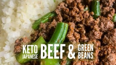 EASY Keto Ground Beef Recipe with Green Beans 🍖🌱 #Shorts