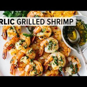 BEST GRILLED SHRIMP RECIPE   garlic grilled shrimp skewers – easy!