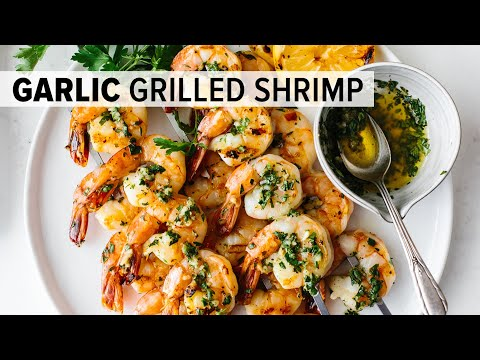 BEST GRILLED SHRIMP RECIPE | garlic grilled shrimp skewers – easy!