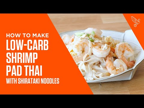 Low-Carb Shrimp Pad Thai with Shirataki Noodles Recipe | Bulletproof