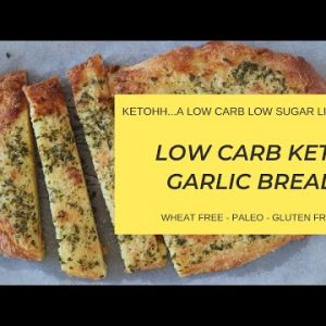 Low Carb Keto Garlic Bread | Ketohh | The Best Keto Garlic Bread Recipe and Easy to Make