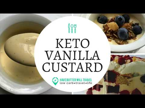 Keto Vanilla Custard – Best keto custard recipe