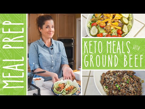 Keto Meal Prep | 3 Meals in 15 Minutes with Ground Beef