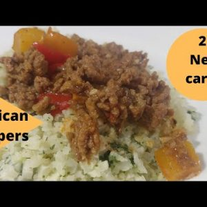 Easy ground beef low carb recipe! Keto friendly too!