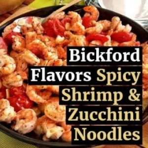 Spicy Shrimp & Zucchini Noodles Recipe with Keto Flavor Extracts