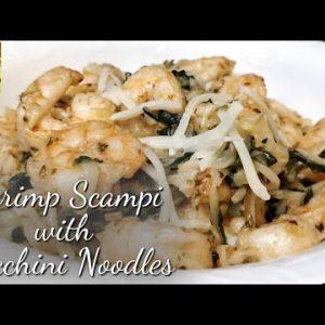 Shrimp Scampi with Zucchini Noodles || Keto shrimp scampi|| zucchini noodles recipe