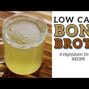 Low Carb BONE BROTH – The Best EASY Keto Bone Broth Recipe – Beef Bone Stock