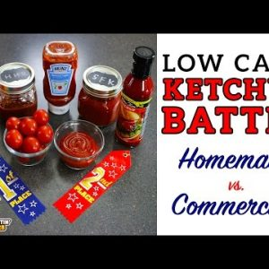 Low Carb KETCHUP BATTLE – Homemade vs. Commercial – The BEST keto ketchup recipe!