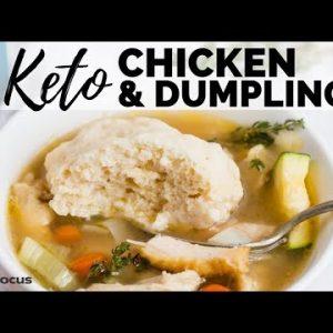 EASY KETO CHICKEN & DUMPLINGS RECIPE   BEST LOW CARB DUMPLINGS   Keto Chicken Soup Recipe