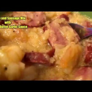 *Recipe Alert* Keto Shrimp and Sausage Mix with Cheesy Butter Garlic Sauce! Easy Keto Meals