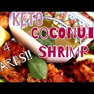 Low Carb Keto Crunchy Coconut Shrimp Recipe