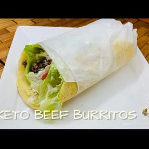 HOW TO MAKE KETO BEEF BURRITO | QUICK AND EASY KETO AND LOW CARB MEAL