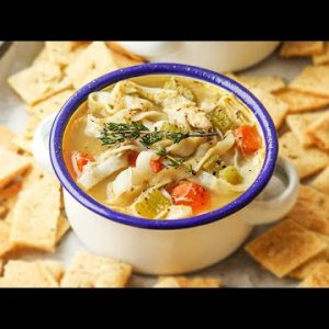 Keto Chicken Noodle Soup | The BEST Low Carb Chicken Soup Recipe For Keto