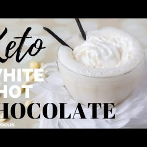 THE BEST KETO WHITE HOT CHOCOLATE RECIPE | easy, sugar free hot cocoa
