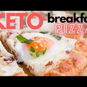 KETO BREAKFAST PIZZA RECIPE | Bacon & Eggs on a the BEST Keto Pizza Crust