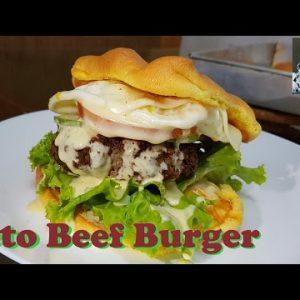 Keto Burger recipe | Keto beef burger | Low carb |Onyok Kokok #ketoburger #lowcarbburger #beefburger