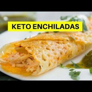 Keto Chicken Enchiladas with Cheese Tortillas Low Carb Recipe