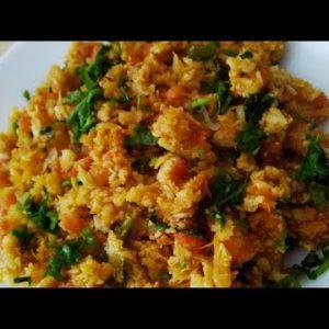 keto shrimp masala rice ll keto series ll recipe 7