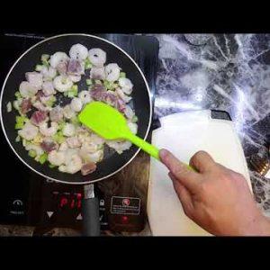 Frozen Shrimp and Frozen Tuna Quick Fry. Keto recipe