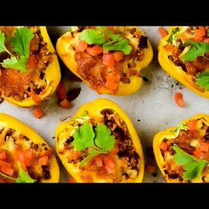 Keto Stuffed Peppers Recipe with Ground Beef & Cheese – Delicious Mexican on a Budget (Easy)