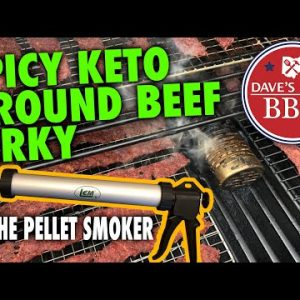 Spicy Keto Ground Beef Jerky on The Pellet Smoker – LG 900