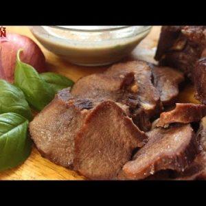 Keto Beef Tongue with Mushrroom Sauce   Keto Recipes   Headbanger's Kitchen