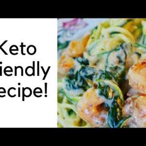 Spiralizer Keto One Pan Shrimp Alfredo Recipe With Zucchini Noodles