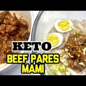LC Vlog 55: Keto Beef Mami Pares   Low Carb Beef Mami Pares   Shirataki Beef Pares
