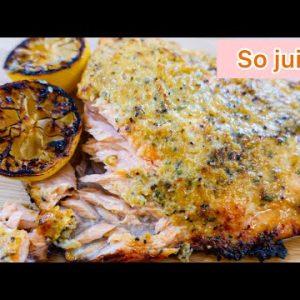 KETO Shrimp Crusted Oven Baked Salmon Recipe Thanksgiving Recipe Series 2020