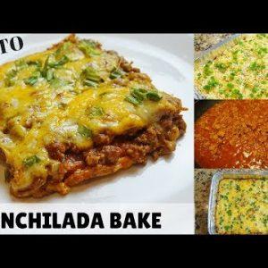 CRAVING MEXICAN FOOD? GET YOUR FIX! CHEESY KETO ENCHILADA BAKE RECIPE! | KETO FASHO