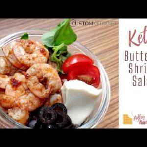 Buttered Shrimp Salad |Keto Recipes| Custom Keto Diet
