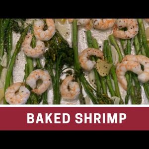 Baked Shrimp with Asparagus & Broccolini (Low Carb Recipe) | The Frugal Chef