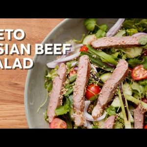 Keto Asian beef salad • 1-Min Recipe
