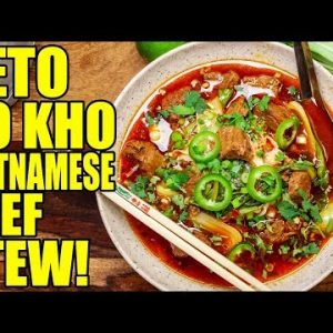 Keto Bo Kho, Vietnamese Spicy Beef Stew Recipe