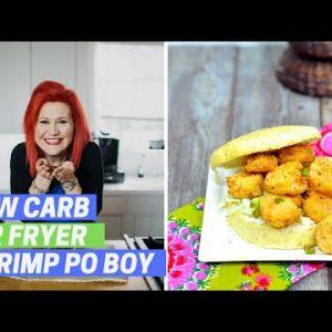 Air Fryer Fried Shrimp Po Boys (LOW CARB KETO FRIENDLY)