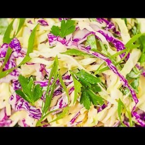 Best Keto Coleslaw & Dressing Recipe – How to Make this Simple Low Carb Salad in Minutes (Easy)