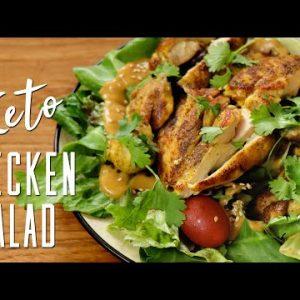 Keto Chicken Salad with Peanut butter dressing | Keto Recipes | Headbanger's Kitchen