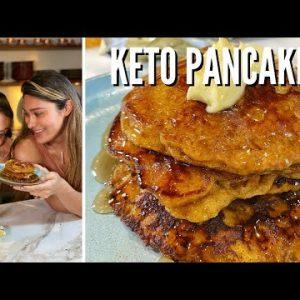 BEST KETO PANCAKES RECIPE! How to Make Keto Pumpkin Pancakes! ONLY 4 NET CARBS!