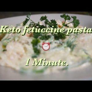 Keto shrimp fettuccine pasta in 1 minute! – Quick recipe – 1 Minute Keto