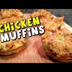 Chicken Muffins Recipe (Low Carb/High Protein)