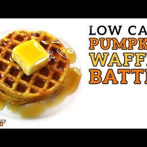 Low Carb PUMPKIN WAFFLE Battle – The BEST Keto Pumpkin Spice Waffle Recipe!