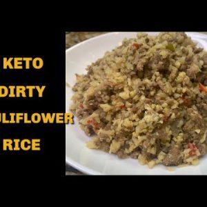 KETO Dirty Cauliflower Rice **FABULOUS**